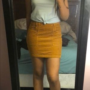Suede skirt from forever 21
